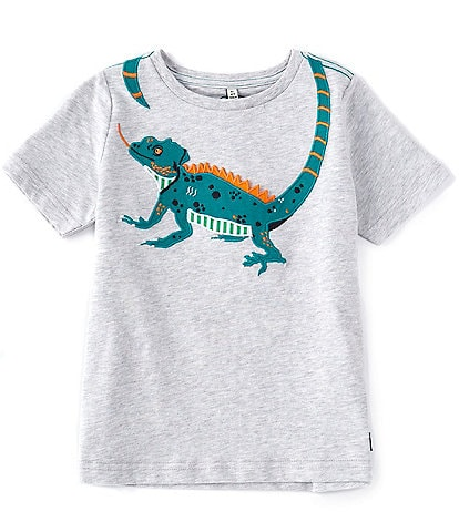 Joules Little Boys 2-6 Short-Sleeve Grey Lizard Archie Graphic Tee