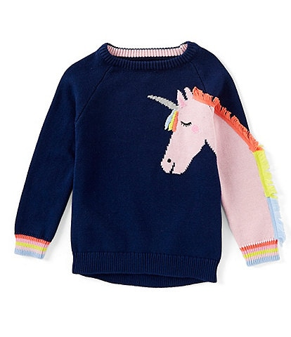 Joules Little Girls 2-6 Geegee Unicorn Sweater