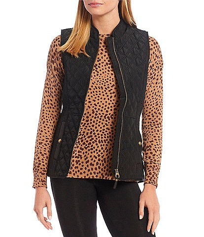 Joules Minx Gilet Stand Collar Sleeveless Quilted Vest