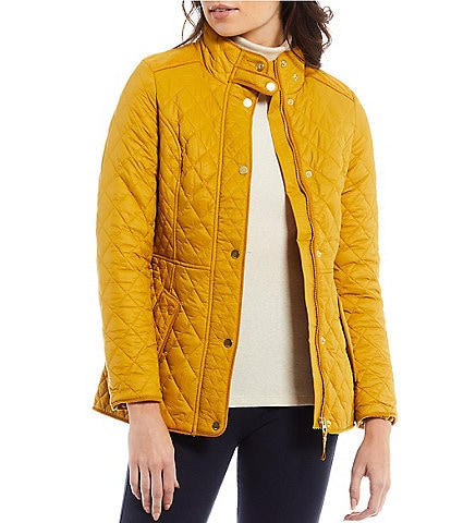 Joules Newdale Stand Collar Long Sleeve Diamond Quilted Puffer Jacket