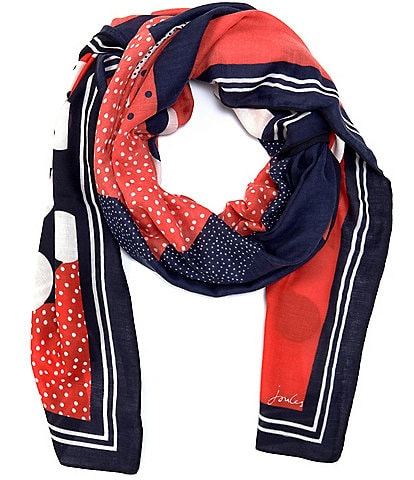 Joules Oblong Hand Drawn Lightweight River Scarf