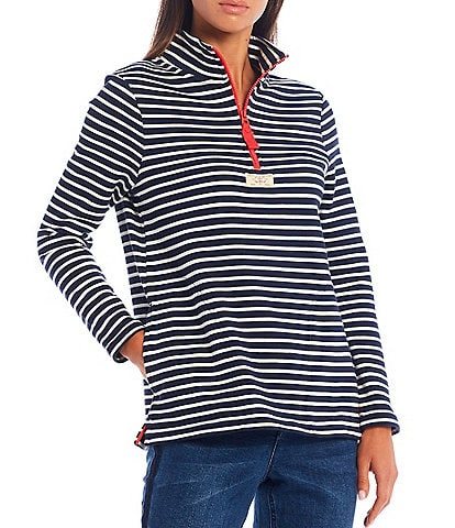 Joules Pip Striped Half-Zip Pullover Jacket