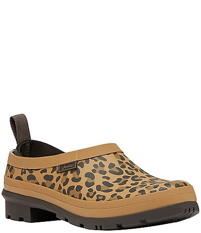Joules Pop On Leopard Print Rain Clogs