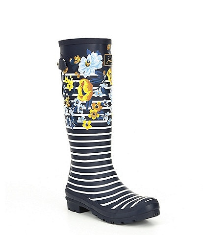 Joules Print Welly Print Tall Rain Boots