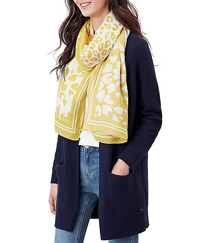 Joules River Mixed Animal Print Scarf