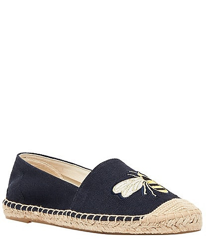Joules Shelbury Bee Embroidered Slip-On Espadrilles
