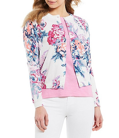 Joules Skye Floral Print Button Front Cardigan 707abead5