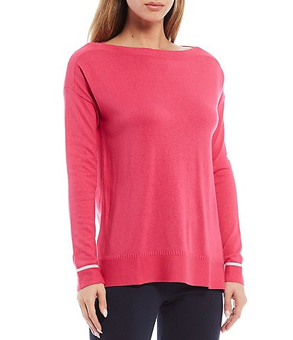 Joules Vivianna Boat Neck Rib Trim Long Sleeve Sweater