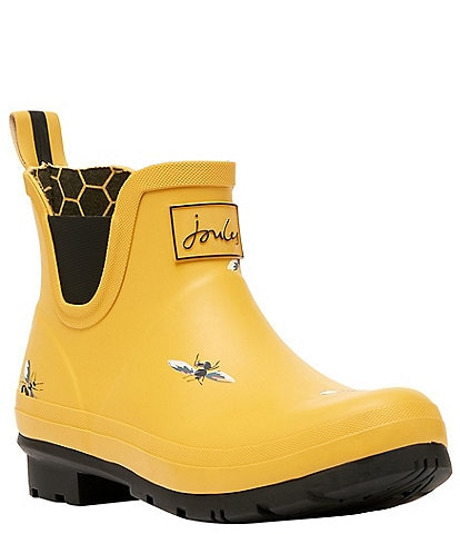Joules Wellibob Yellow Bees Print Chelsea Rain Booties