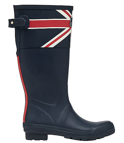 Joules Welly Union Jack Print Rain Boots