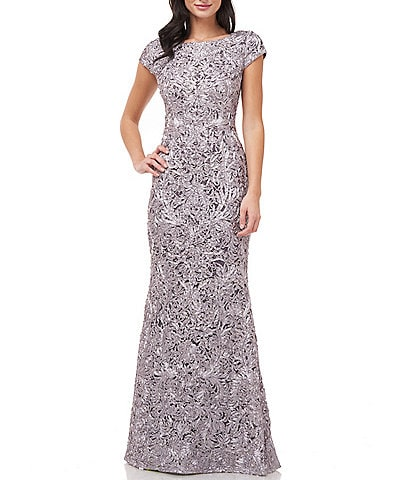 JS Collections Soutache Lace Mermaid Gown