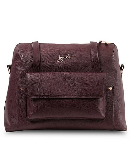 Ju-Ju-Be Wherever Weekender Noir Rose Pebbled Gold Satchel Bag