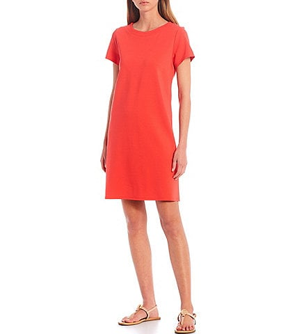 Jude Connally Ella Ponte Short Sleeve Shift Dress