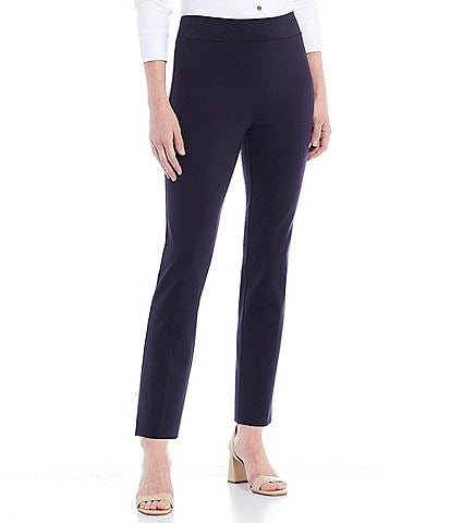 Jude Connally Lucia Ponte Knit Pull-On Ankle Pants