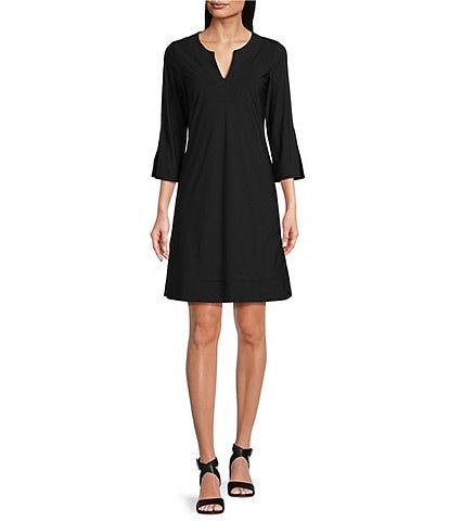 Jude Connally Megan Short Sleeve Split Round Neck Dress