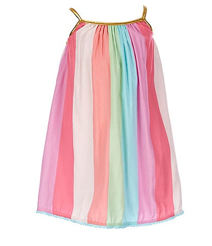 Juicy Couture Little Girls 2T-6X Paneled Stripe Chiffon Shift Dress