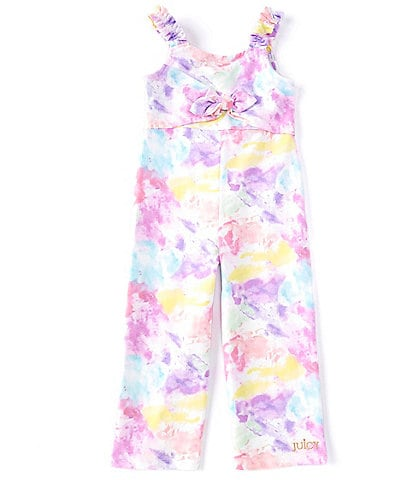 Juicy Couture Little Girls 2T-6X Tie-Front Tie-Dye Jumpsuit
