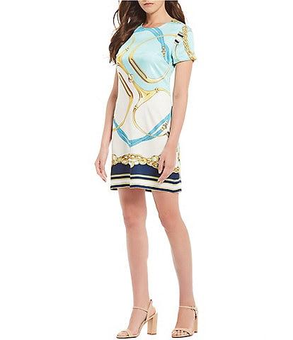Julie Brown Everest Colorblock Striped Crepe Sheath Dress