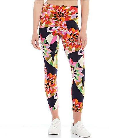 Julie Brown Luca Floral Print Straight Hem Ankle Leggings