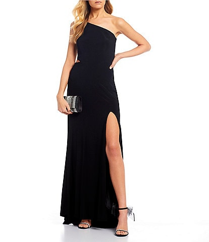 Jump One Shoulder Long Dress