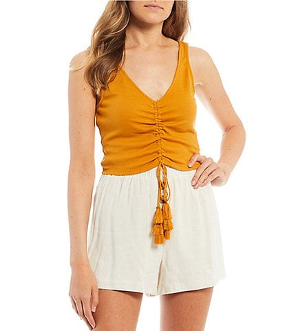 June & Hudson Cinched Front Tank Top