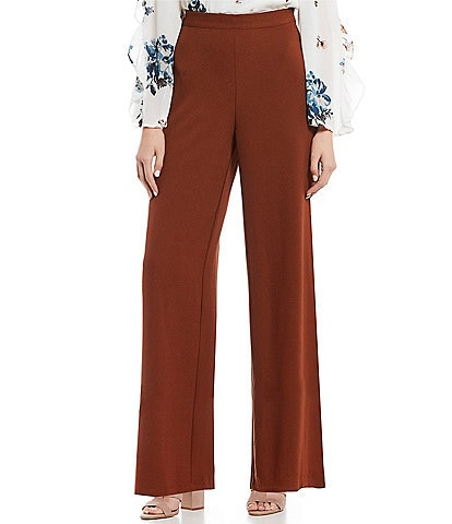 June & Hudson Flat Front Wide Leg Pants