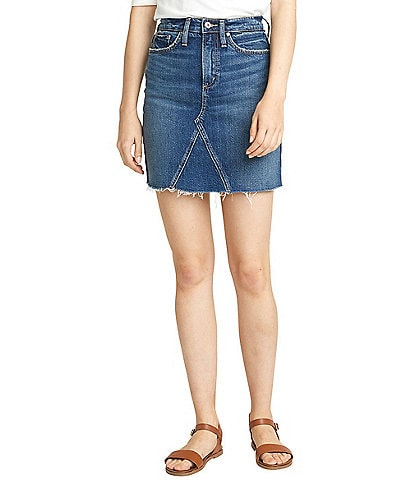 June & Hudson Frisco Denim Mini Skirt