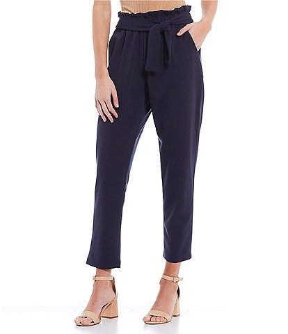 June & Hudson High Rise Tie Waist Pants