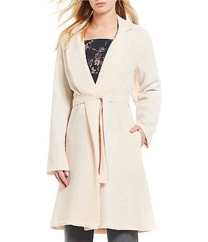 June & Hudson Notch-Collar Trench Coat