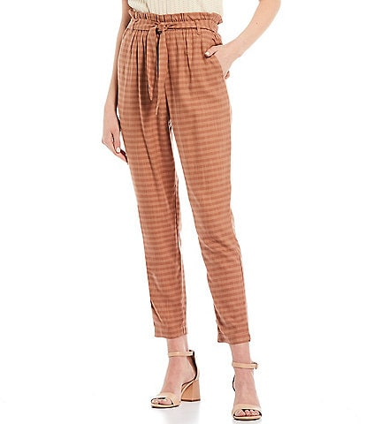 June & Hudson Paperbag Waist Belted Trouser Pants