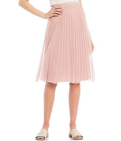 June & Hudson Pleated Midi Skirt