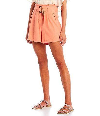 June & Hudson Belted Rolled Shorts