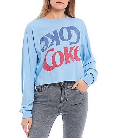Junk Food Coke Cropped Sweatshirt
