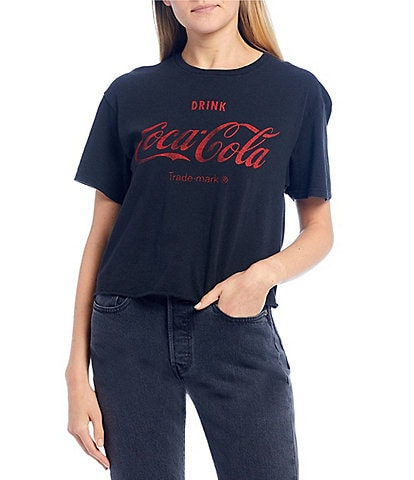 Junk Food Drink Coca Cola Cropped Graphic Tee