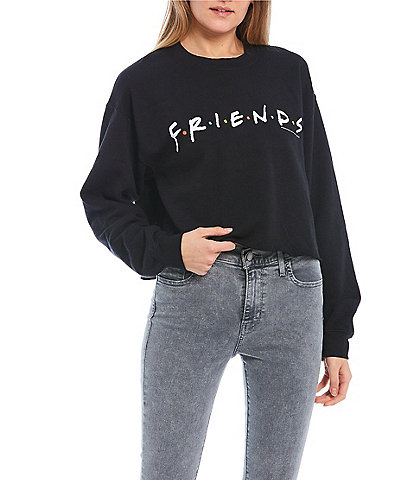 Junk Food Friends Cropped Sweatshirt