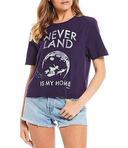 Junk Food Neverland Is Home Short Sleeve Cropped Graphic Tee