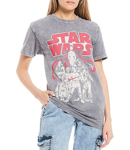 Junk Food Star Wars Short Sleeve Cropped Graphic Tee