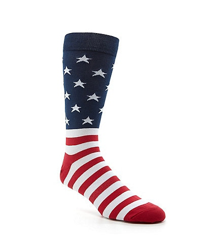 K. Bell Novelty American Flag Crew Socks