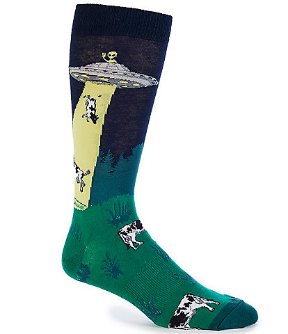 K. Bell Novelty Dairy Thief Crew Socks