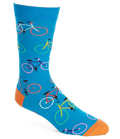 K. Bell Novelty Bright Bikes Crew Socks