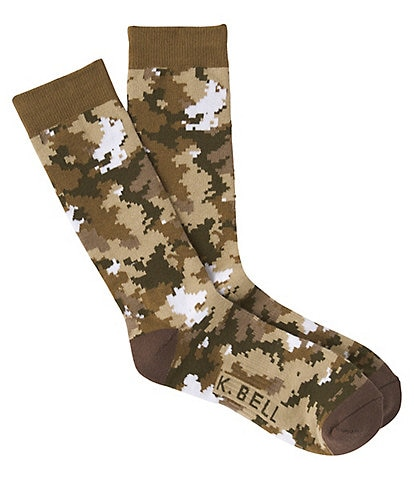 K. Bell Novelty Digital Camo Crew Socks