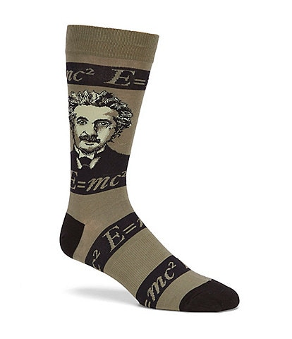 K. Bell Novelty Einstein Crew Socks
