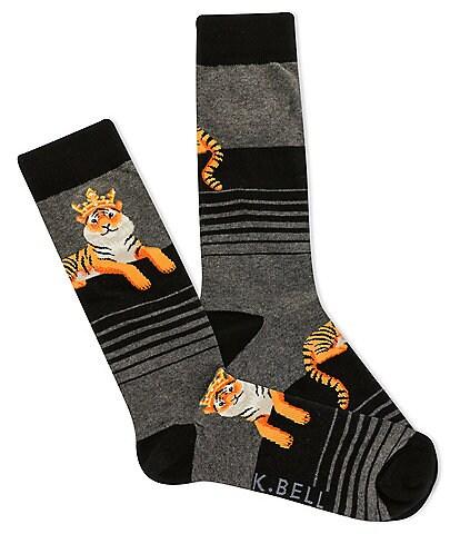 K. Bell Royal Tiger Crew Socks