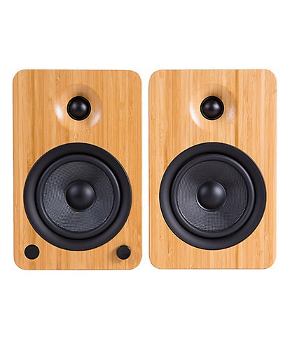 Kanto U4 Bamboo Powered Bookshelf Speakers