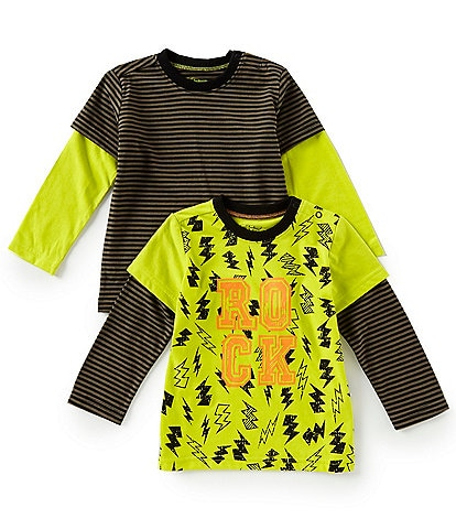 Kapital K Baby Boys 12-24 Months Two-Fer Rock Tees Two-Pack