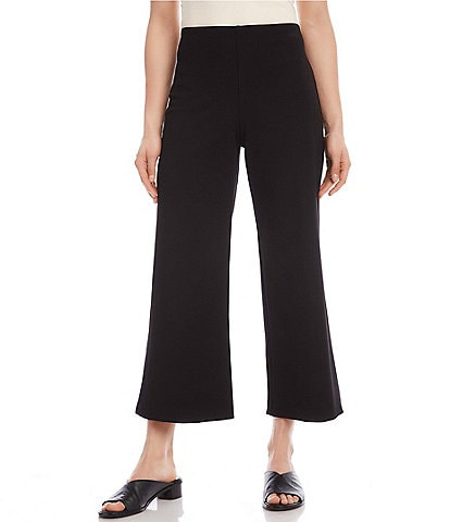 Karen Kane Brooklyn Elastic Waistband Wide Leg Crop Pants