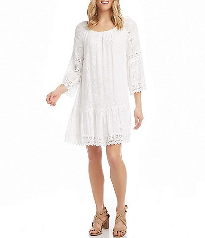 Karen Kane Mixed Lace Dress