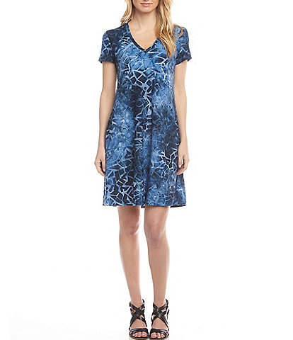 Karen Kane Quinn Jacquard Tie-Dye Pocket Dress