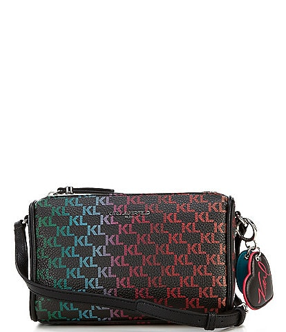 KARL LAGERFELD PARIS Adele Rainbow Logo Crossbody Bag