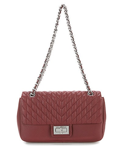 KARL LAGERFELD PARIS Agyness Quilted Shoulder Bag